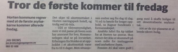 """""""Gjengangeren"""" p. 5, 4 Nov 2015"""